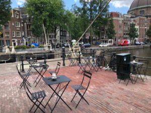 Outdoor terrace CoffeshopAmsterdam café